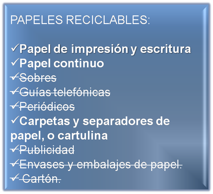 Reciclar papel en oficinas papel artesanal for Papel para oficina