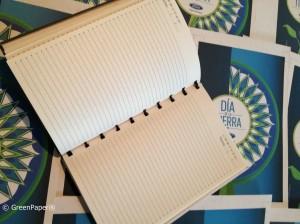 Libreta Ecológica GreenPaper® hecho a mano con papel 100% reciclado, encuadernado con mecatillo y folios internos rayados!!!